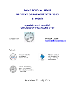 Propozície súťaže 2013