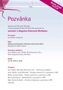 Pozvánka Nitra program