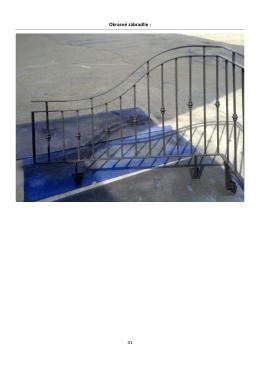 Katalóg kovovýroba zábradlie a schody
