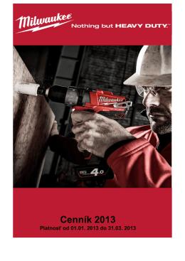 Cenník 2013 - milwaukee.sk