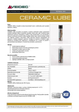 TECH INFO - CERAMIC LUBE