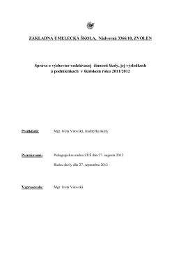 ZÁKLADNÁ UMELECKÁ ŠKOLA, Nádvorná 3366/10