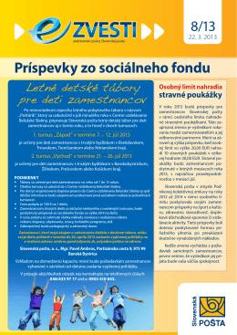 Príspevky zo sociálneho fondu
