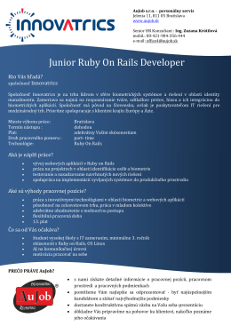 Junior Ruby On Rails Developer
