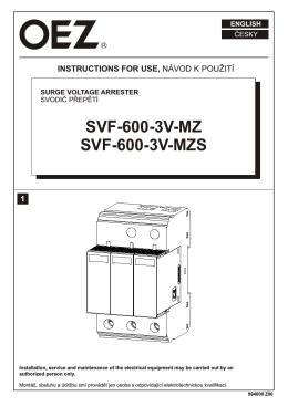 SVF-600-3V-MZ SVF-600-3V-MZS