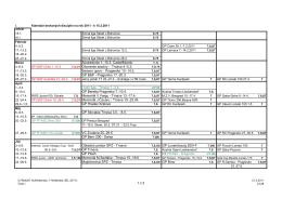 Kalendár akcií - Strelnica Trnava