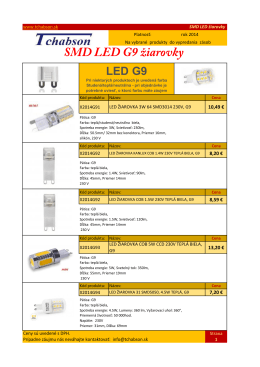 SMD LED G9