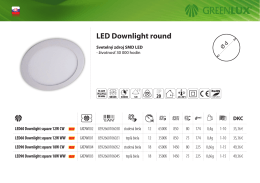 LED Downlight round