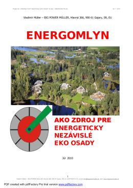 Projekt 08 - ENERGETICKY NEZÁVISLÉ EKO OSADY S UEZ