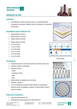 Rámové filtre G2-F9 - Filter Technik Slovakia sro