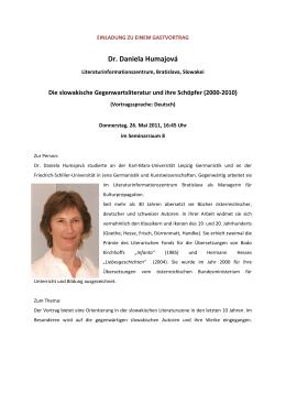 Dr. Daniela Humajová - Institut für Slawistik