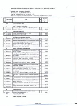 Položkový rozpočet sociálneho zariadenia