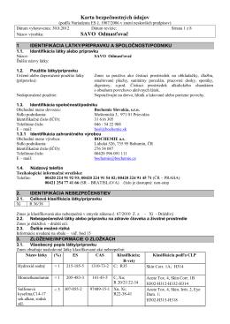 Karta bezpečnostných údajov SAVO Odmasťovač