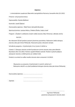 Zápis a uznesenie z mimoriad.22.6.2012