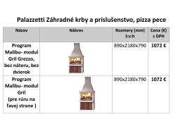 Palazzetti Záhradné krby a príslušenstvo, pizza pece - krbyeshop-w.sk