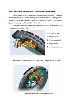 EWB - Electronic Wedge Brake – elektronická klinová brzda