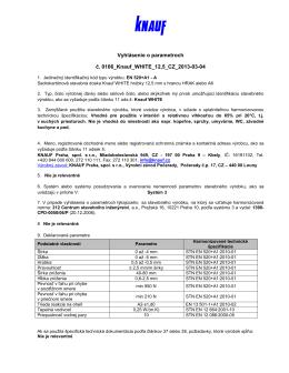 certifikat Knauf WHITE 125--GKB