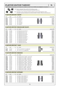 16.plastovÉ zÁvitovÉ tvarovky (pdf - 127.87 kB)