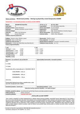 Propozicie Bystrička 6 kolo 31.8.2014