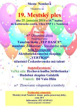 Mestský ples 2014
