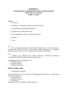 dokument PDF - MŠ Jurkovičova 17, Prešov