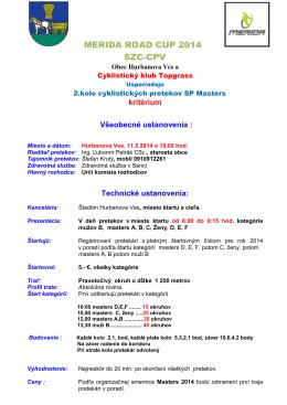 2. kolo, 11.5.2014, kritérium Hurbanova Ves