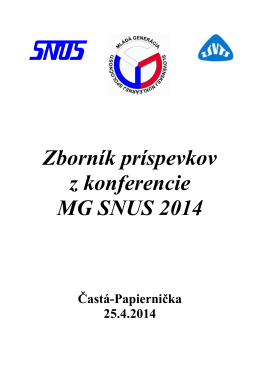 Zborník príspevkov z konferencie MG SNUS 2014