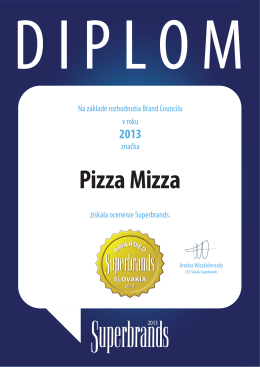 Pizza Mizza - GastroNet as