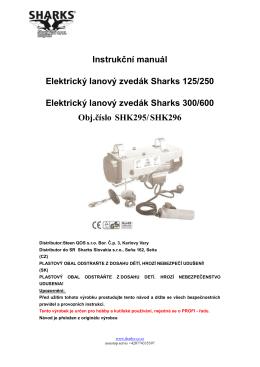 Instrukční manuál Elektrický lanový zvedák Sharks 125/250
