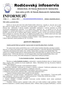 č. 3 - marec 2013 - Základná škola JM Petzvala, Moskovská 20