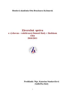 Závereč. hod.správa 2010-2011 HA OB Kežmarok
