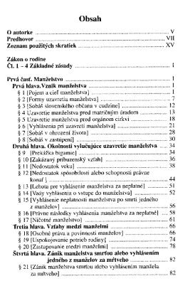Zakon o rodine : komentar / Bronislava Pavelkova