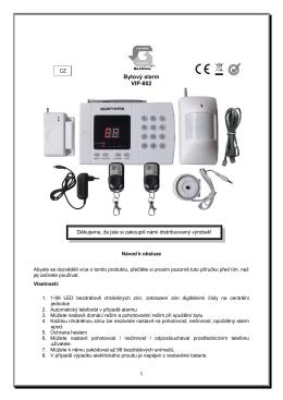 Bytový alarm VIP-802