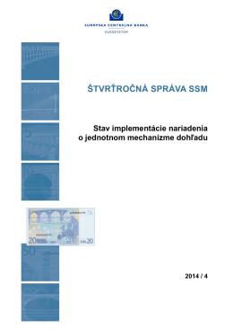 Štvrťročná správa SSM 2014/4 - ECB Banking Supervision