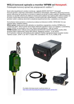 WGLA bezdrôtové konc. spínače a WPMM monitor