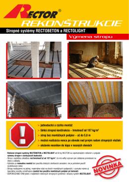 Rekonštrukcie - výmeny stropu
