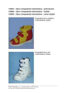 Detská ortopedická obuv - PRO