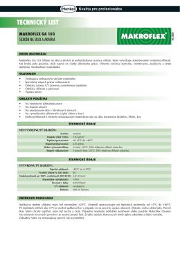 technický list makroflex ga 103