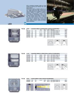 LEO/S symetrický reflektor se středně širokou vyzařovací