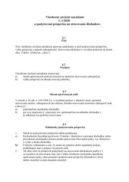 Všeobecne záväzné naradenie č. 1/2010 o