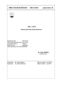 VZN č. 1-2010 - Územný plán obce - dolne