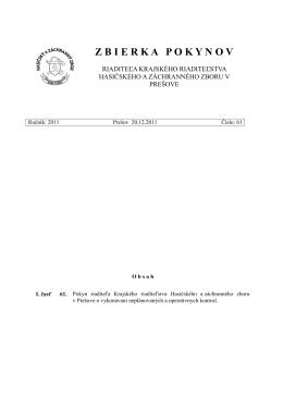Pokyn R KR HaZZ č. XX-2011