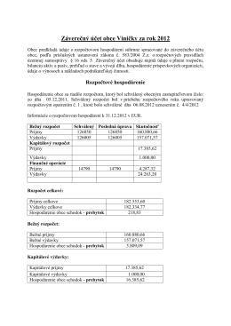 Záverečný účet 2012