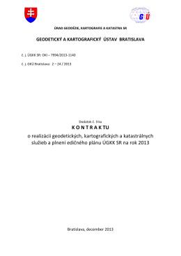 Dodatok č. 3 ku kontraktu na rok 2013