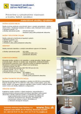 Materialove skusky vyrobkov.cdr