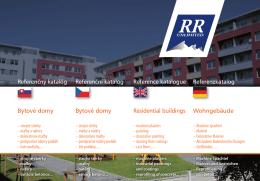 Referenční katalog RR Unlimited BYTOVÉ DOMY