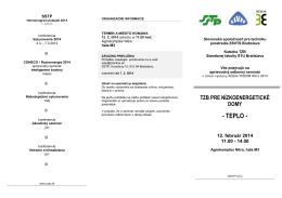 ORGANIZAČNÉ INFORMÁCIE - Slovenská spoločnosť pre techniku