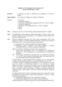 Výbor Snemu SAV č. 50 - Snem Slovenskej akademie vied