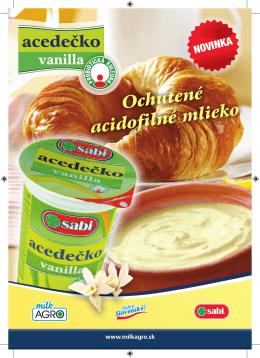 Ochutené acidofilné mlieko