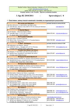 3. liga B2 2010/2011 Spravodajca č. 0